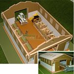 Wooden Lambing Shed - Brushwood Toys - 1:32 Scale  (Brushwood BT7000)