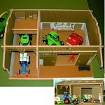 Wooden Farm Workshop - Brushwood Toys - 1:32 Scale  (Brushwood BT8200)