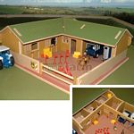 Wooden Stable Yard and Buildings - Brushwood Toys - 1:32 Scale  (Brushwood BT8300)