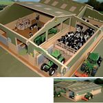 Wooden Covered Collection Yard - Brushwood Toys - 1:32 Scale  (Brushwood BT8600)