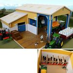 Wooden Storage Shed with Calf House - Brushwood Toys - 1:32 Scale  (Brushwood BT8800)
