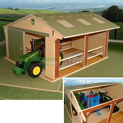 Wooden Large Scale Utility Shed - Brushwood Toys - 1:16 Scale (Brushwood BT9500)