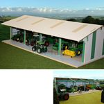 Wooden Euro Style Tractor and Machinery Shed - Brushwood Toys - 1:32 Scale  (Brushwood BTEURO1)