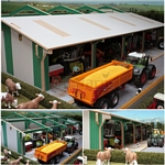 Euro Tractor and Machinery Shed Extension - Brushwood Toys - 1:32 Scale  (Brushwood BTEURO5)