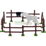 Fence Set with Water Trough - Bullyland Animal World - Play, Learn, Fun  (Bullyland 62227)