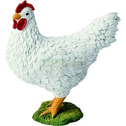 Hen - White - Bullyland Animal World - Play, Learn, Fun (Bullyland 62314)