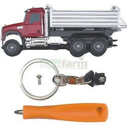 MACK Tip Up Truck With Key Ring And Screwdriver - Bruder Mini Series (Bruder 00610)