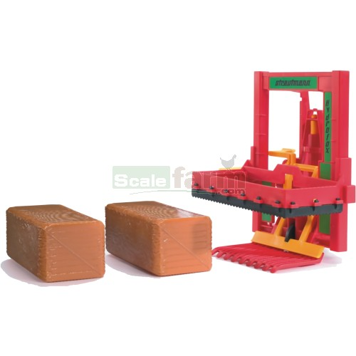 Silo Block Cutter with 2 Block Hay Bales (Bruder 02242)