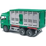 Man Cattle Transportation Truck including One Cow - Bruder - just like the real thing - 1:16 scale  (Bruder 02749)