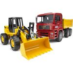 MAN TGA Construction Truck And Articulated Loader - Bruder - just like the real thing - 1:16 scale  (Bruder 02752)