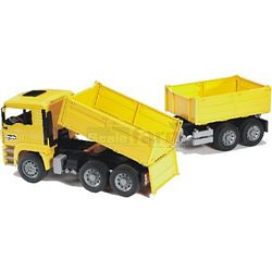 MAN Construction Truck With Trailer - Bruder - just like the real thing - 1:16 scale (Bruder 02756)