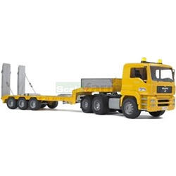 MAN TGA Low Loader Truck - Bruder - just like the real thing - 1:16 scale (Bruder 02775)