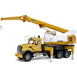 MACK Granite Liebherr crane truck - Bruder - just like the real thing - 1:16 scale  (Bruder 02818)