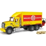 MACK Granite Truck with Container and Forklift - Bruder - just like the real thing - 1:16 scale  (Bruder 02819)