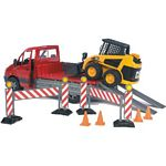 Mercedes Benz Sprinter Low Loader with CAT Skid Steer and Barriers - Bruder - just like the real thing - 1:16 scale  (Bruder 02922)