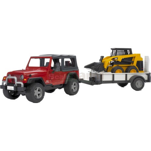 Cat Skid Steer Axle : Bruder jeep wrangler unlimited with single axle
