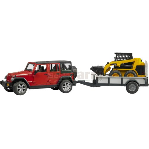 Skid Steer Axles : Bruder jeep wrangler unlimited rubicon with single