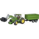John Deere 7930 Tractor with Frontloader and Tandem Axle Tipping Trailer - Bruder - just like the real thing - 1:16 scale  (Bruder 03055)