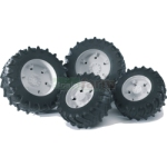 Twin Tyres With White Rims - 03000 Series - Bruder - just like the real thing - 1:16 scale  (Bruder 03301)