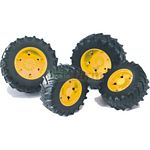 Twin Tyres With Yellow Rims - 03000 Series - Bruder - just like the real thing - 1:16 scale  (Bruder 03304)