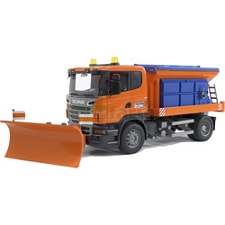 Scania R Series Winter Service Truck with Snow Plough - Bruder - just like the real thing (Bruder 03585)