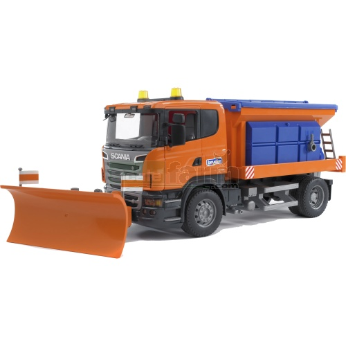 Scania R Series Winter Service Truck with Snow Plough (Bruder 03585)