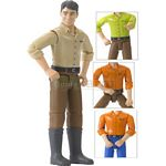 bworld Man with Dark Hair and Boots - Bruder - just like the real thing  (Bruder 60011)