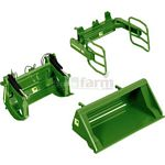 Front Loader Attachment Set A - John Deere Green - Wiking Die Cast Models - 1:32 scale  (Wiking 7381)