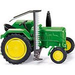 John Deere 2016 Vintage Tractor with Cutter - Wiking Scale Models - 1:87 scale  (Wiking 8820125)