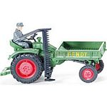 Fendt Vintage Carrier with Mower and driver - Wiking Scale Models - 1:87 scale  (Wiking 8993927)