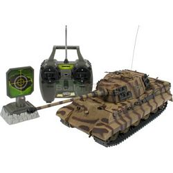 German King Tiger 27 MHz RC Tank - Battle Beam RC Military Series - Forces of Valour Radio Controlled Series (Revell 24219)
