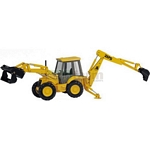 JCB 217S Centremount Backhoe Loader - Joal die cast - 1:35 scale  (Joal 185)