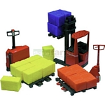 BT 3-piece Forklift Elevator and Pallet Truck Set - Joal die cast - 1:25 scale  (Joal 187)