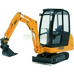 JCB 8016 Mini Excavator with Bucket - Joal die cast - 1:25 scale  (Joal 219)