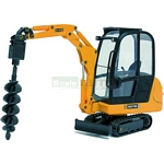 JCB 8016 Mini Excavator with Earth Drill - Joal die cast - 1:25 scale  (Joal 268)