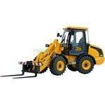 JCB 406 Wheeled Loading Shovel with Forks - Joal die cast - 1:35 scale  (Joal 278)
