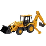 JCB 3CX Centremount Backhoe Loader - Joal die cast - 1:25 scale  (Joal 299)