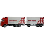 Volvo FH12 Globetrotter with Double Trailer - Joal die cast - 1:50 scale  (Joal 349)