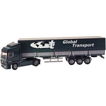 Mercedes Benz Actros Truck with Covered Trailer - Joal die cast - 1:50 scale  (Joal 361)