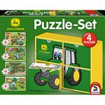 John Deere Puzzle Set with 4 Jigsaws