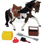 Saddle Pals Tri Colour Paint Stallion - Saddle Pals Horses  (Saddle Pals 714318)