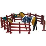 Saddle Pals Quarter Horse Stallion with Fence Set - Saddle Pals Horses  (Saddle Pals 714328)