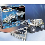 Eitech Metal Tractor and Trailer Set, with Steering