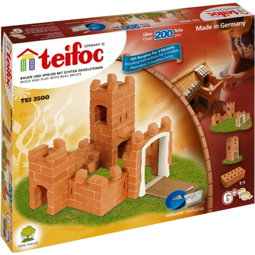 Teifoc 3500 teifoc castle brick kit for Mud brick kit homes