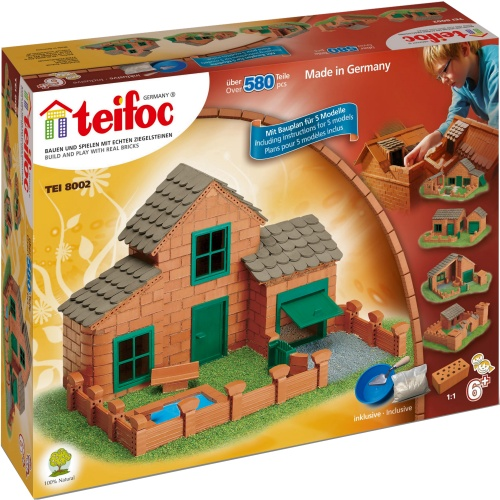 Teifoc 8002 teifoc universal brick kit for Mud brick kit homes