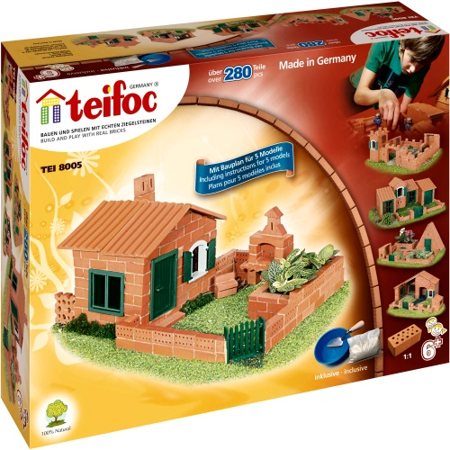 Teifoc 8005 teifoc universal ii brick kit for Mud brick kit homes
