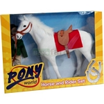 Horse and Rider Set - Pony World  (Pony World 1001)