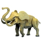 Little Elephant Woodcraft Construction Kit