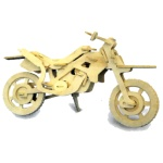 Cross-Country Motorbike Woodcraft Construction Kit