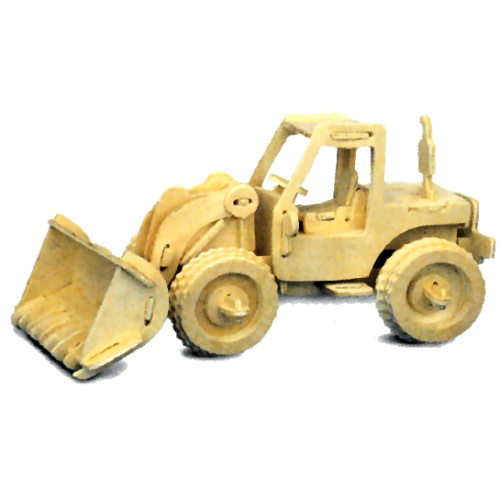 Quay P029 - Bulldozer Woodcraft Construction Kit
